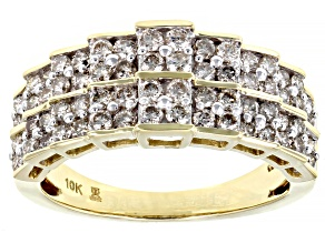 Pre-Owned White Diamond 10k Yellow Gold Ring 1.00ctw