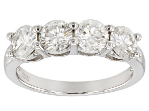 Pre-Owned Moissanite Platineve Ring 2.00ctw DEW.