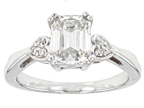 Pre-Owned Moissanoite Platineve Ring 1.81ctw DEW.