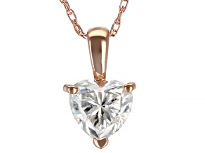 Pre-Owned Moissanite 14k rose gold pendant .60ct DEW
