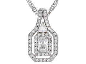 Pre-Owned Moissanite Platineve Pendant .94ctw DEW.
