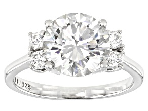 Pre-Owned Moissanite Platineve Ring 3.48ctw DEW.