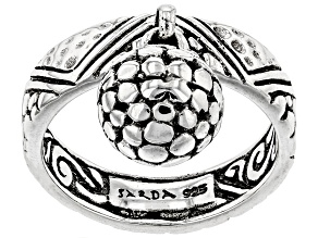 Pre-Owned Sterling Silver Charm Ring