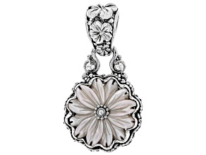 Pre-Owned Pink Mother Of Pearl Silver Pendant