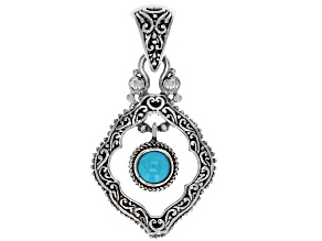Pre-Owned Turquoise Sleeping Beauty Silver Pendant