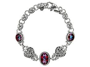 Pre-Owned Purple Xanadu™ Mystic Quartz® Silver Bracelet 9.01ctw