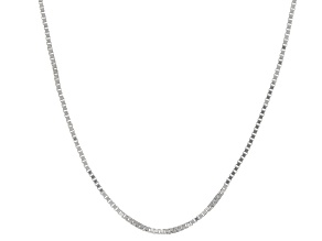 Pre-Owned 10k White Gold Box Chain Necklace 20 inch