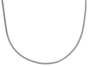 Pre-Owned 10k white gold foxtail link chain necklace 18 inch