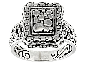 Pre-Owned Sterling Silver Watermark Design Ring