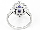 Pre-Owned Blue Tanzanite Rhodium Over Sterling Silver Ring 2.29ctw