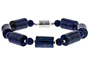 Pre-Owned Blue lapis lazuli silver bracelet