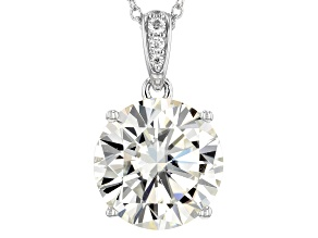 Pre-Owned Moissanite Platineve Pendant 12.07ctw DEW