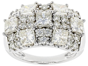 Pre-Owned Moissanite Platineve Ring 3.77ctw DEW.