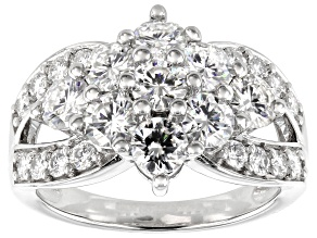 Pre-Owned Moissanite Platineve ring 2.55ctw DEW