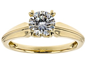 Pre-Owned Moissanite 14k Yellow Gold Ring 1.00ct D.E.W