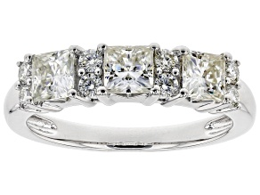 Pre-Owned Moissanite Platineve Ring 1.47ctw DEW.