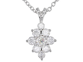 Pre-Owned Moissanite Platineve Pendant .88ctw DEW.