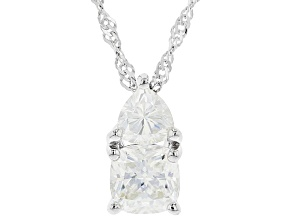 Pre-Owned Moissanite Platineve Pendant 1.50ctw DEW.