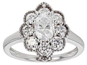 Pre-Owned  Moissanite Platineve Ring 1.70ctw DEW.