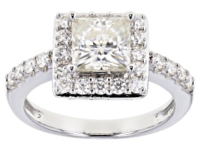 Pre-Owned Moissanite Platineve Ring 2.42ctw DEW.