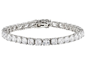 Pre-Owned White Cubic Zirconia Rhodium Over Sterling Silver Bracelet 35.37ctw
