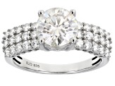 Pre-Owned Moissanite Platineve Ring 2.50ctw DEW