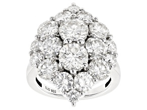 Pre-Owned Moissanite Platineve Ring 7.36ctw DEW