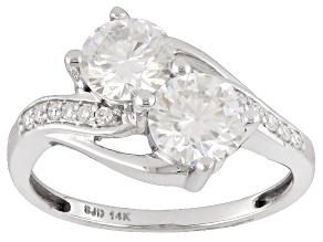 Pre-Owned Moissanite 14k White Gold Ring 1.72ctw D.E.W