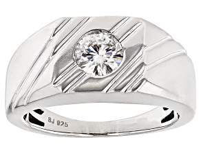 Pre-Owned Moissanite Platineve Gents Ring .80ct D.E.W