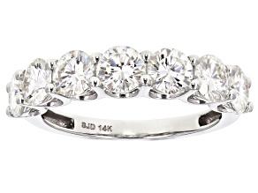 Pre-Owned Moissanite 14k White Gold Ring 2.31ctw DEW.