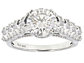 Pre-Owned Moissanite Platineve Ring 2.14ctw DEW.