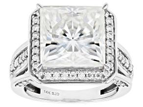 Pre-Owned Moissanite 14k White Gold Ring 9.95ctw DEW