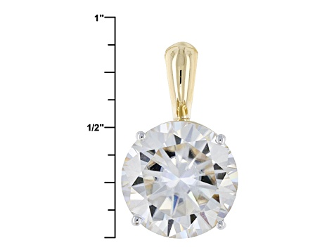 Pre-Owned Moissanite 14k Yellow Gold Pendant 7.75ct DEW