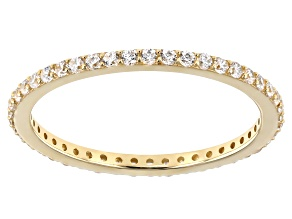 Pre-Owned White Cubic Zirconia 10k Yellow Gold Ring 0.46ctw
