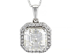 Pre-Owned Moissanite 14K white gold Pendant 4.18ctw DEW