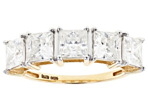 Pre-Owned Moissanite 14k yellow gold ring 3.00ctw DEW.
