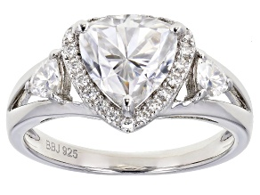 Pre-Owned Moissanite Platineve Ring 2.09ctw DEW.