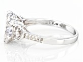 Pre-Owned White Cubic Zirconia Rhodium Over Sterling Silver Ring 5.14ctw.
