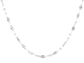 Pre-Owned Sterling Silver Mirror Necklace 100 Inches