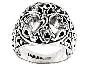 """Pre-Owned Sterling Silver """"Tree Of Knowledge"""" Ring"""