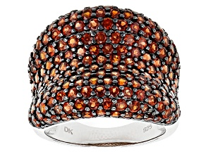 Pre-Owned Red Garnet Sterling Silver Ring 4.20ctw