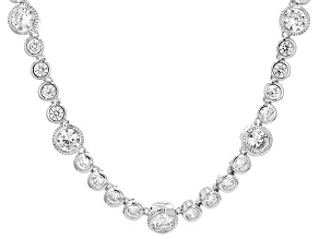 Pre-Owned White Cubic Zirconia Platineve Necklace 23.96ctw