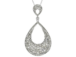 Pre-Owned White Diamond 10K White Gold Pendant 1.25ctw
