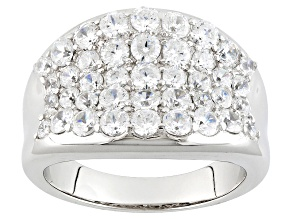 Pre-Owned Cubic Zirconia Silver Ring 1.86ctw (1.46ctw DEW)