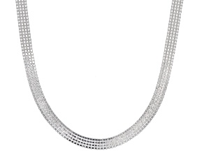 Pre-Owned Sterling Silver 4.5MM Flat Venitian Box Chain Necklace