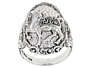 Pre-Owned Sterling Silver Horse Ring