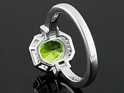 Pre-Owned Green Peridot Sterling Silver Ring 2.70ctw