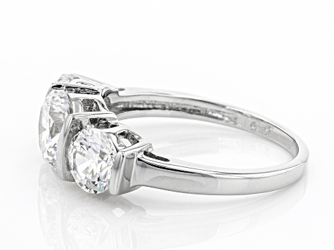 Pre-Owned White Cubic Zirconia Platinum Over Sterling Silver Ring 4.57ctw