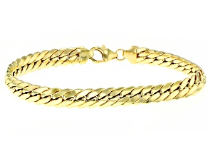 Pre-Owned 10K YELLOW GOLD HERRINGBONE BRACELET