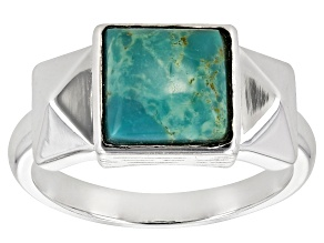 Pre-Owned Turquoise Green Kingman Silver Ring